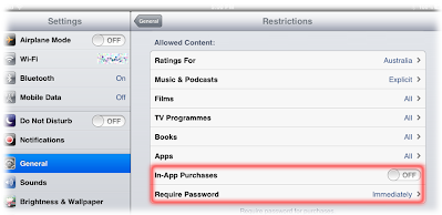 In App Restrictions
